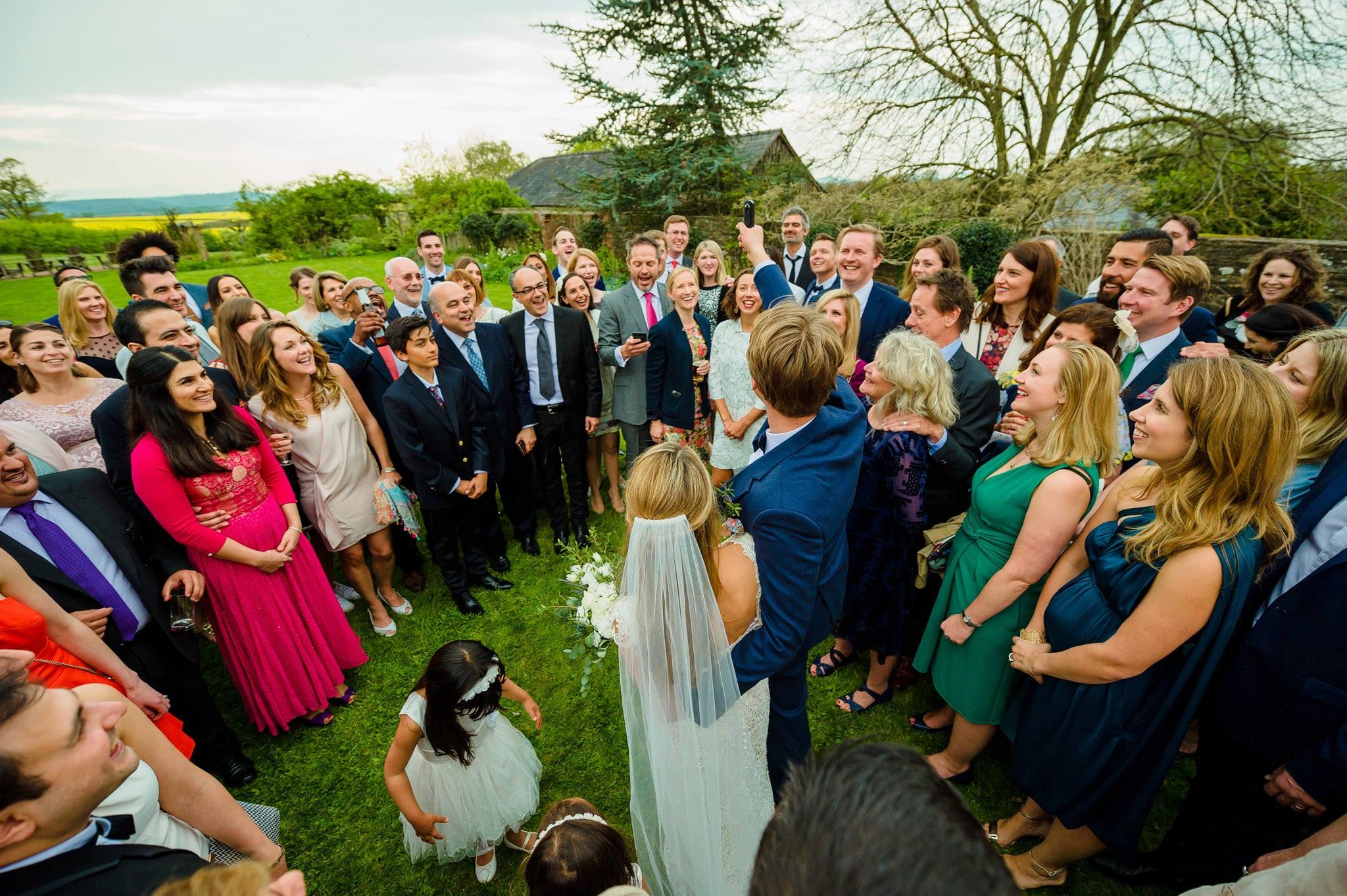 Tom + Shadi   Dewsall Court Wedding 155
