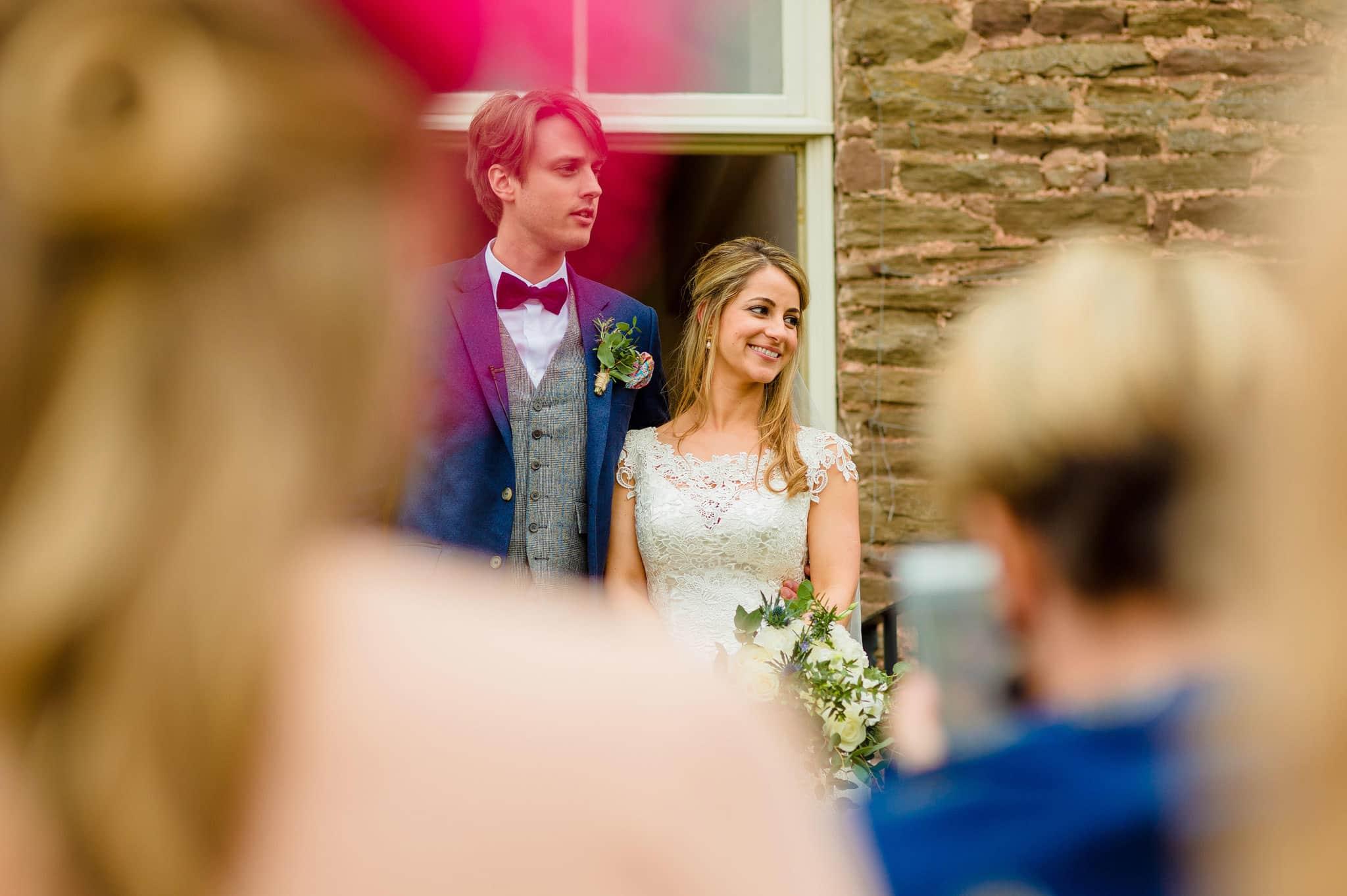 Tom + Shadi   Dewsall Court Wedding 163