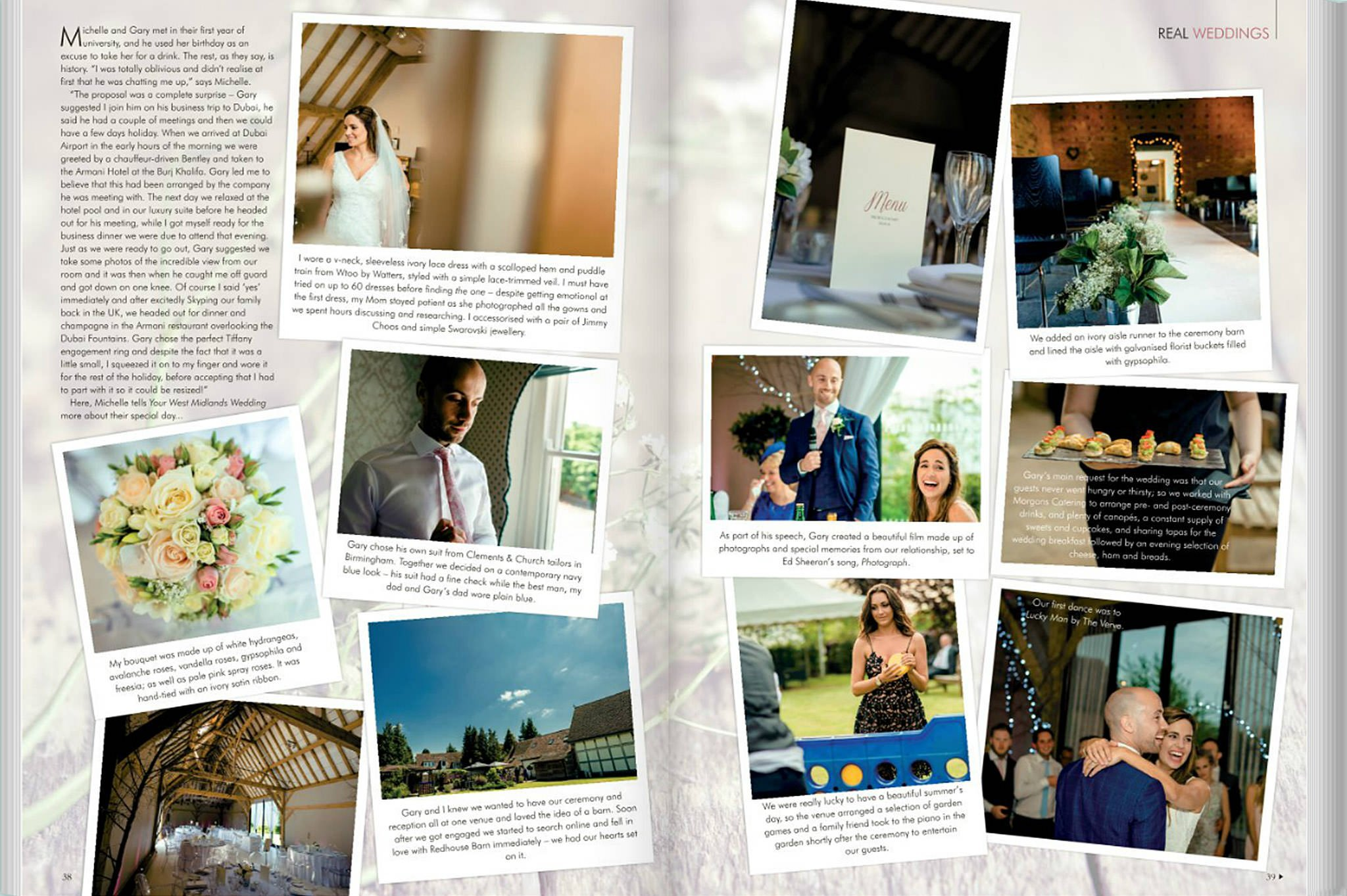 Gary & Michelle's special day featured in Your West Midlands wedding magazine 2