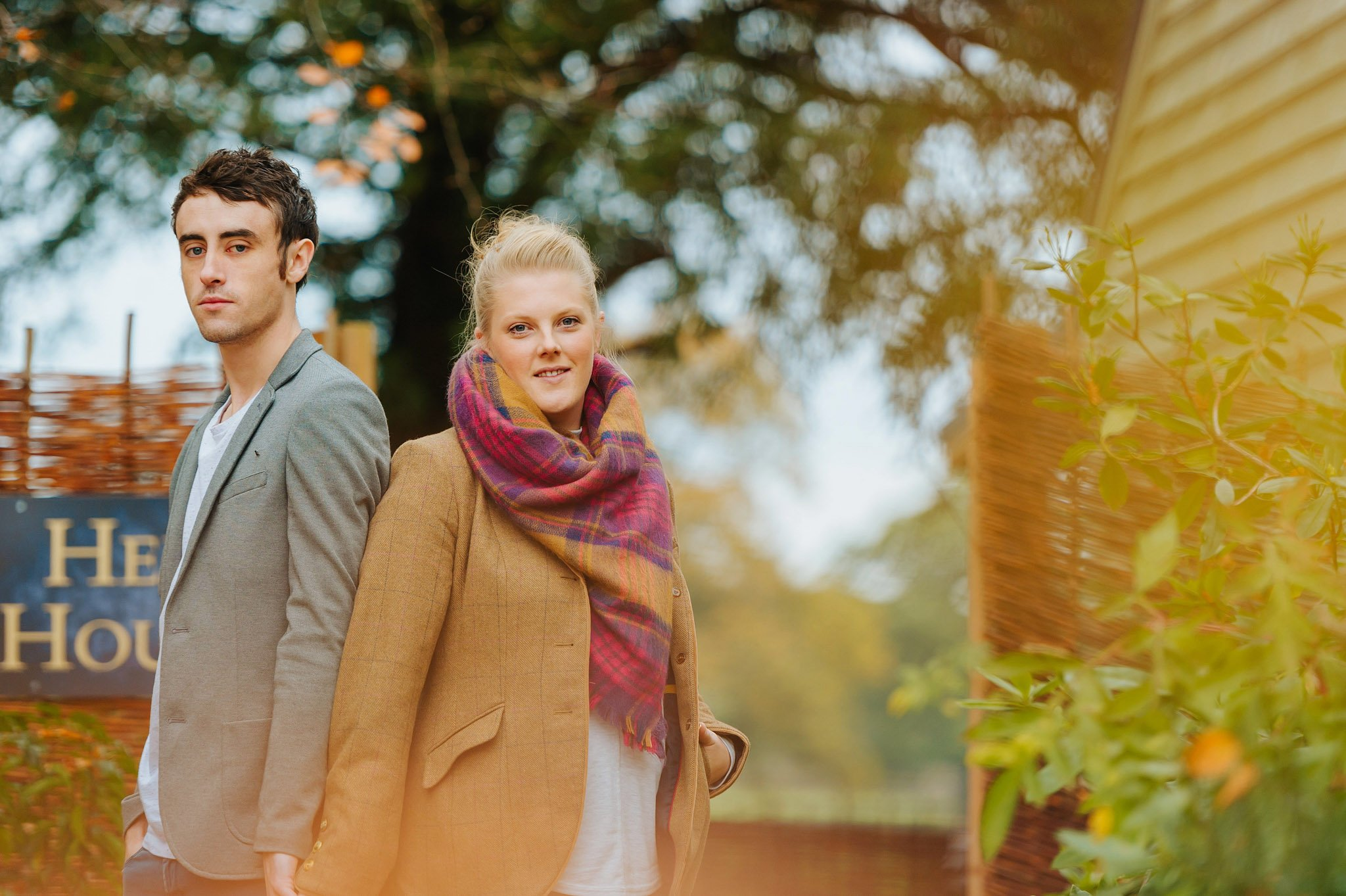 Becky + Marcus | Engagement session in Herefordshire 11